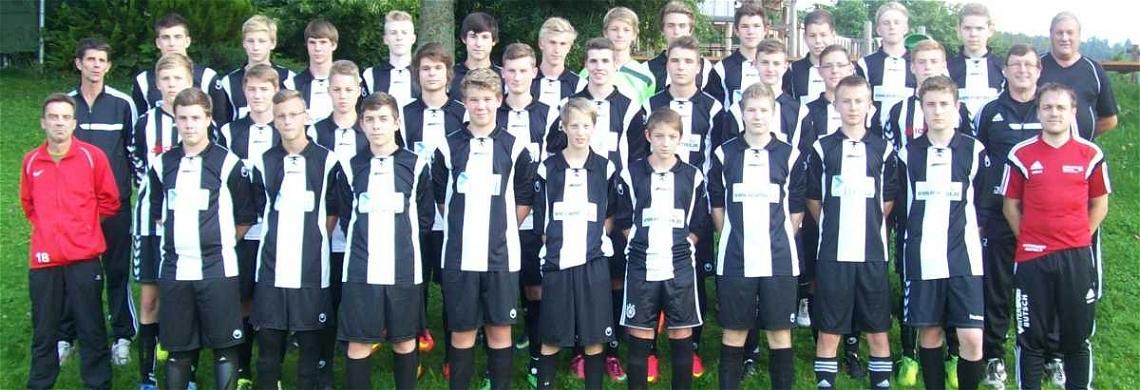 Die B-Jugend-Meistermannschaft der Saison 2014-2015